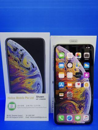 iPhone XS Max 256gb silver(used)