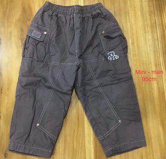 mini-man男童厚鋪棉長褲