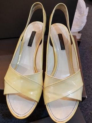 LV (Louis Vuitton) Leather Wedges