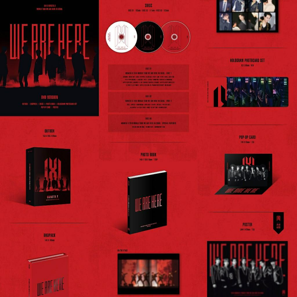 [DVD] 2019 MONSTA X WORLD TOUR [WE ARE HERE] IN SEOUL DVD