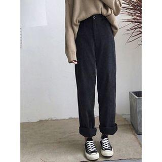 High Waisted Corduroy Crew Pants