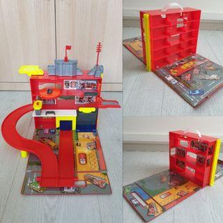 Fastlane Fire Station Play Set -with Storage Case to keep cars & vehicles