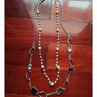 全新多款長項鍊~彩色寶石珍珠~黑花~黑珍珠~五條