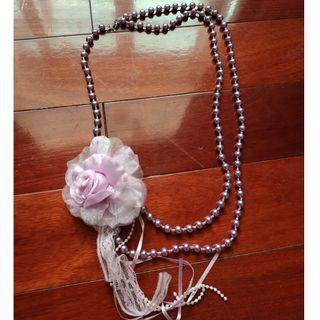 全新~多款項鍊長項鍊~紫珍珠花~黑白~珍珠長項鍊~粉紅珍珠短項鍊