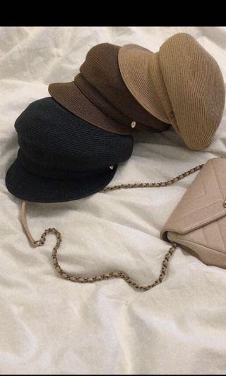 轉賣 W 針織貝蕾帽  深咖與棕色 ㄧ頂400元