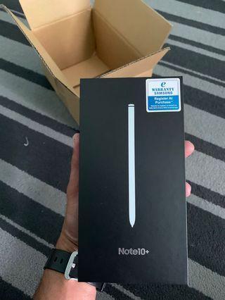 Note 10 plus Aura White New In Box