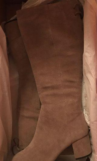 Aerosoles Tan Suede Boots (new, in box)