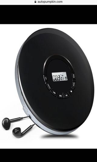 Portable CD Player with Electronic Skip Protection Anti-Shock Function Personal Compact Disc Player