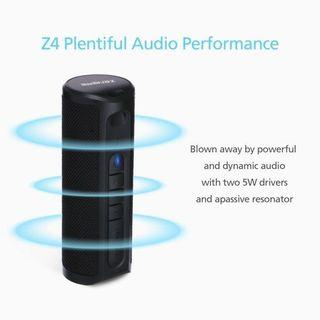 Bluetooth Speakers, ZENBRE Z4 Wireless Speakers with 20h Play-time, 2x5W Dual-Driver and Enhanced Bass, True Wireless Stereo and Waterproof IPX6 Portable Speakers for Party Travel(Black)