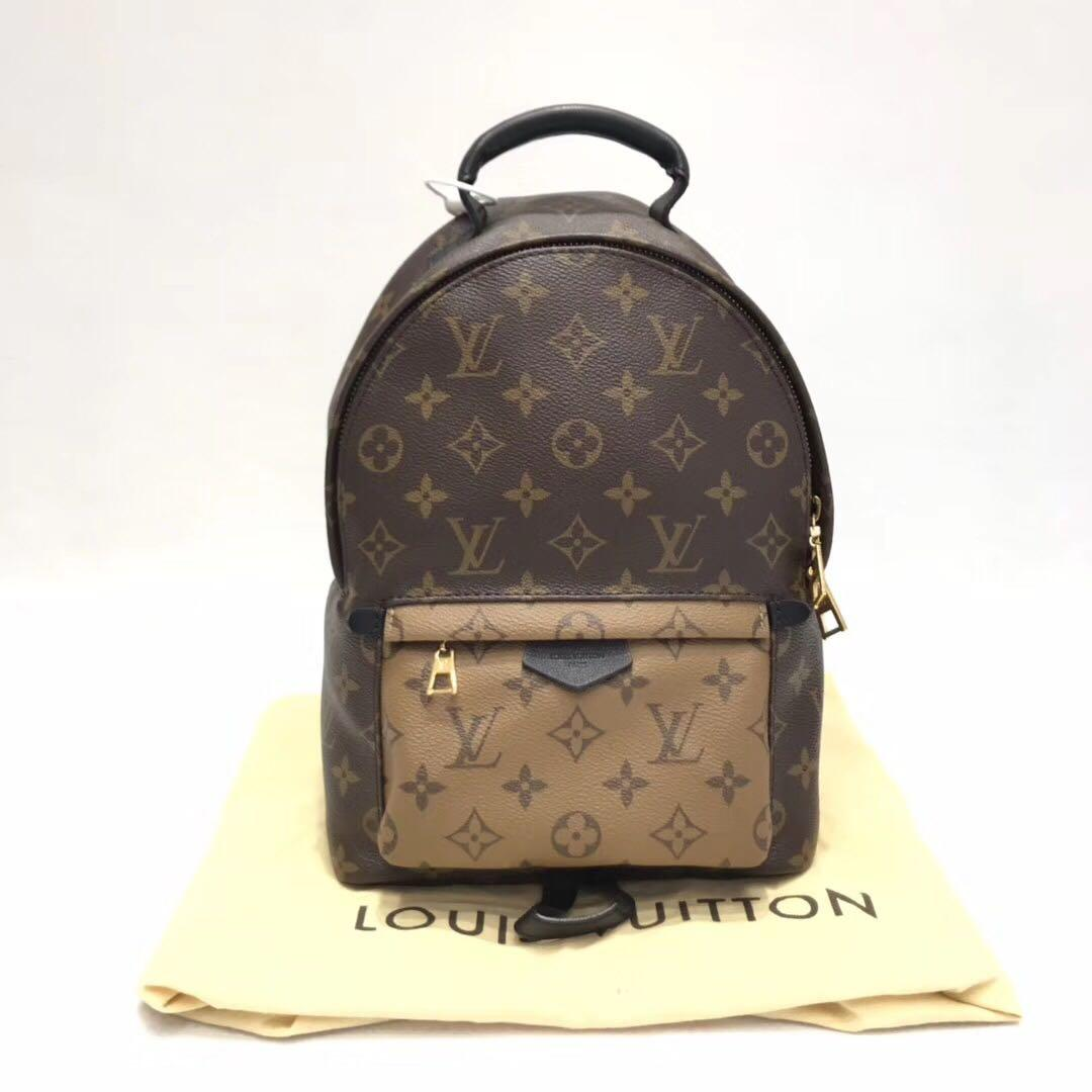 Authentic Pre-loved Louis Vuitton Palm Springs PM Backpack Reverse Monogram
