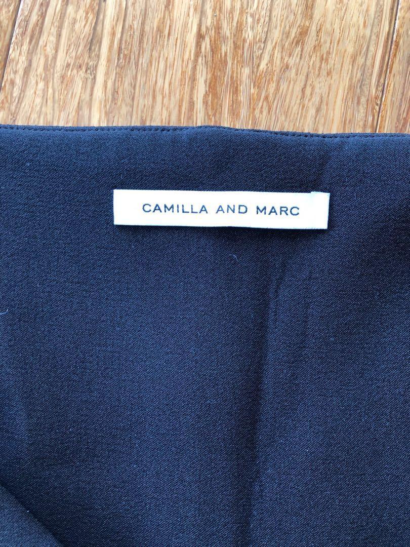 BNWT Camilla and Marc Mahler Long Sleeve Top black sz 8