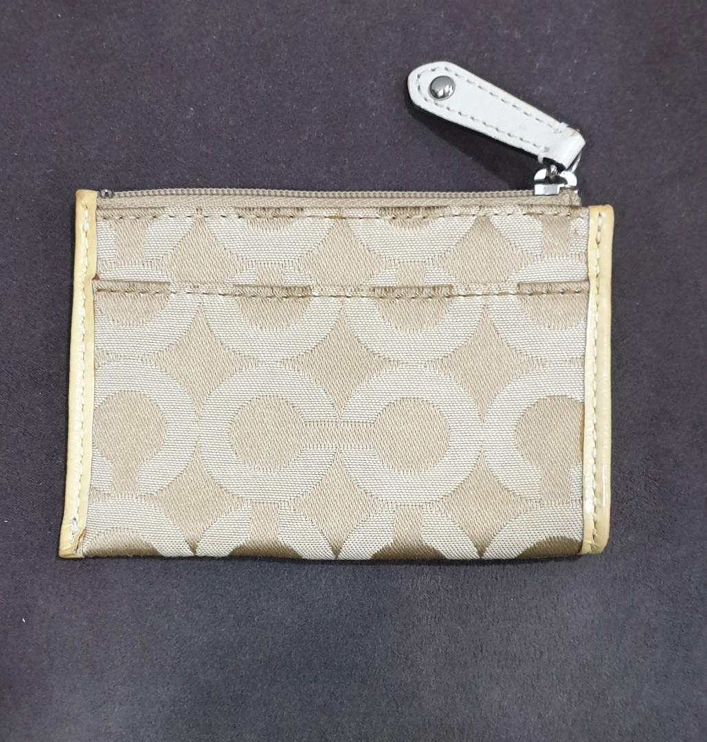 Coach Coin Purse Pouch With Card Holder Slot And Key Ring