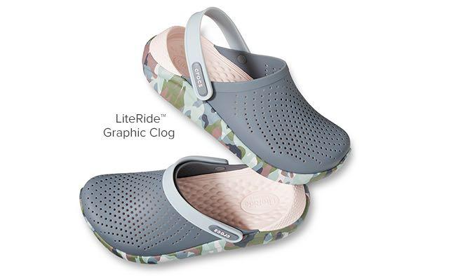 CROCS Literide Graphic Clog (Charcoal