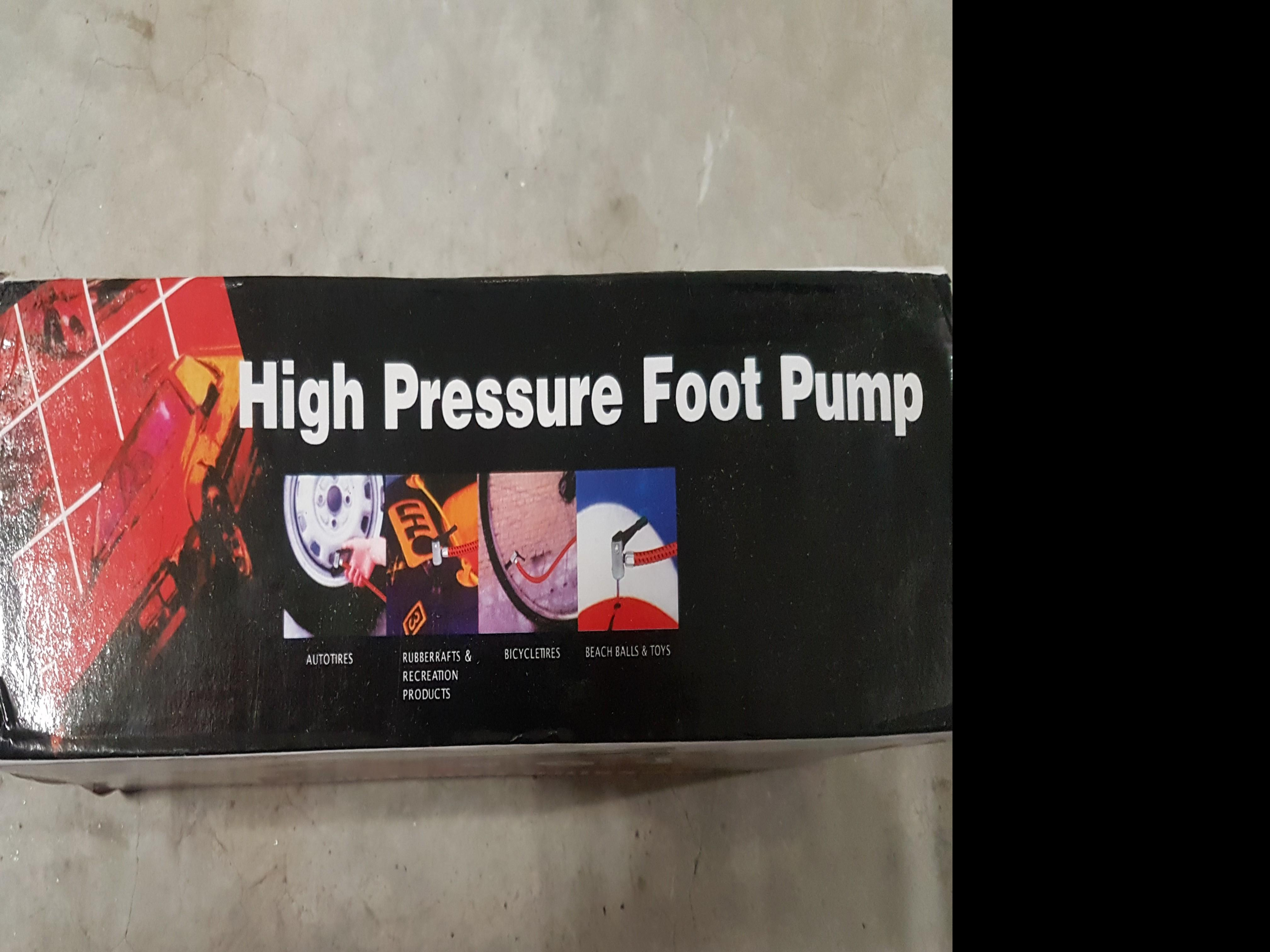 Foot Pump For Balls and Bicycle/PMD Tires