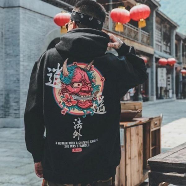 Grunge graphic hoodie