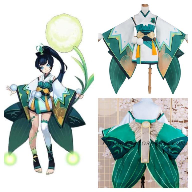 Hotaru / 萤草 (Onmyoji / 阴阳师) Cosplay Costume / Wig / Props / Wings