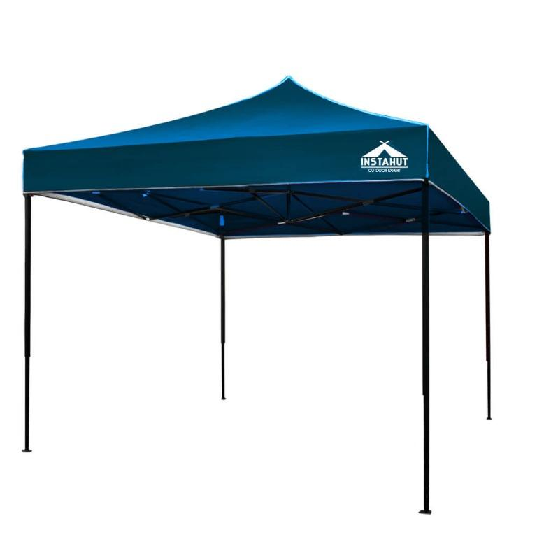 Instahut Pop Up Gazebo 3x3m Tent Folding Wedding Marquee Gazebos Sailor BLue