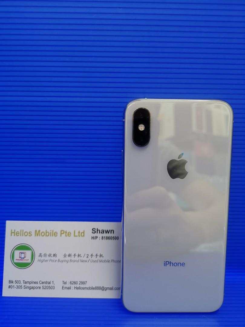 iPhone XS 64gb silver(used)