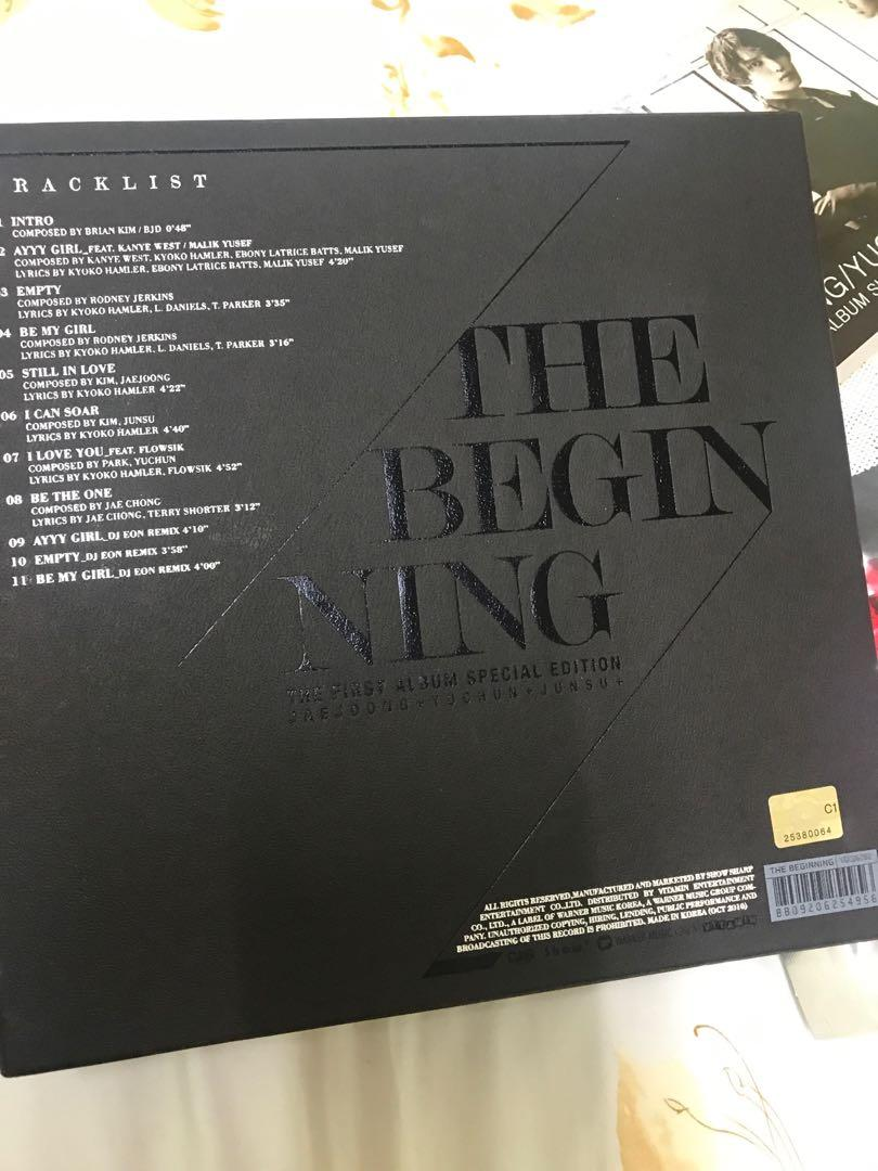 JYJ The Beginning album special limited edition & concert T-shirt
