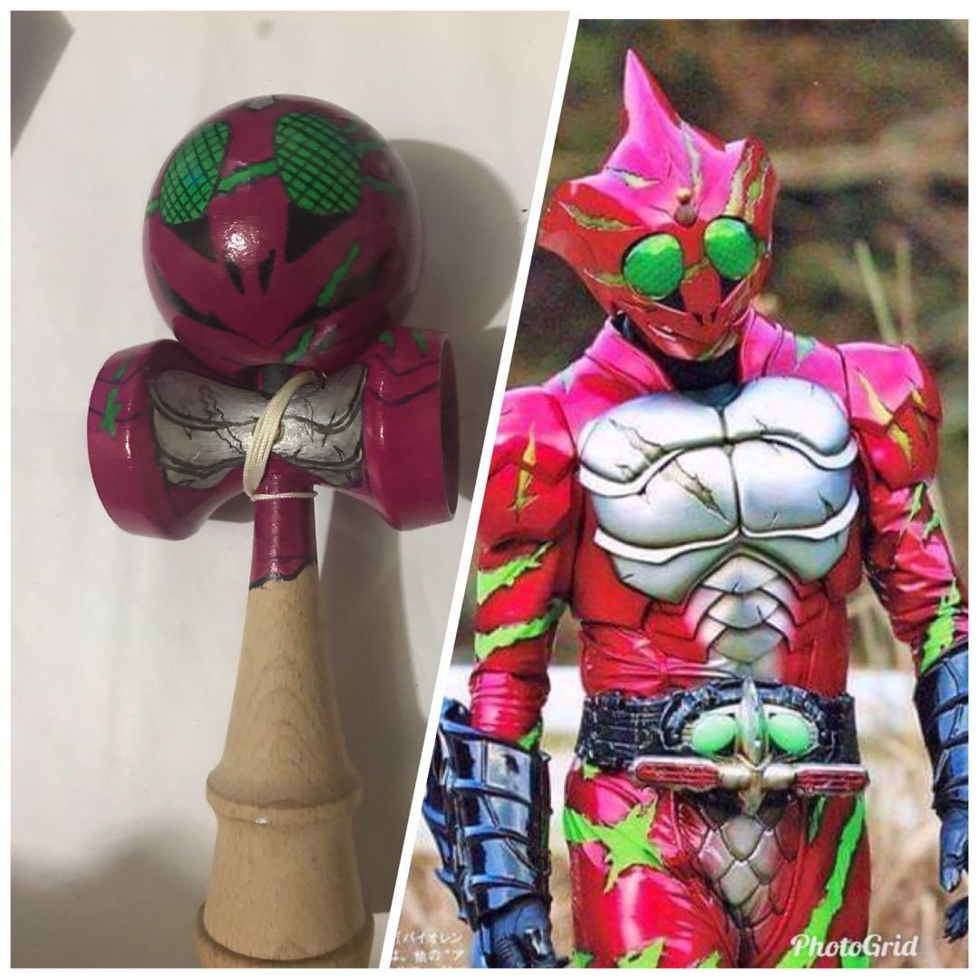 幪面超人假面騎士Kamen rider amazon  DIY手繪手绘手描き劍球劍玉けん玉kendama