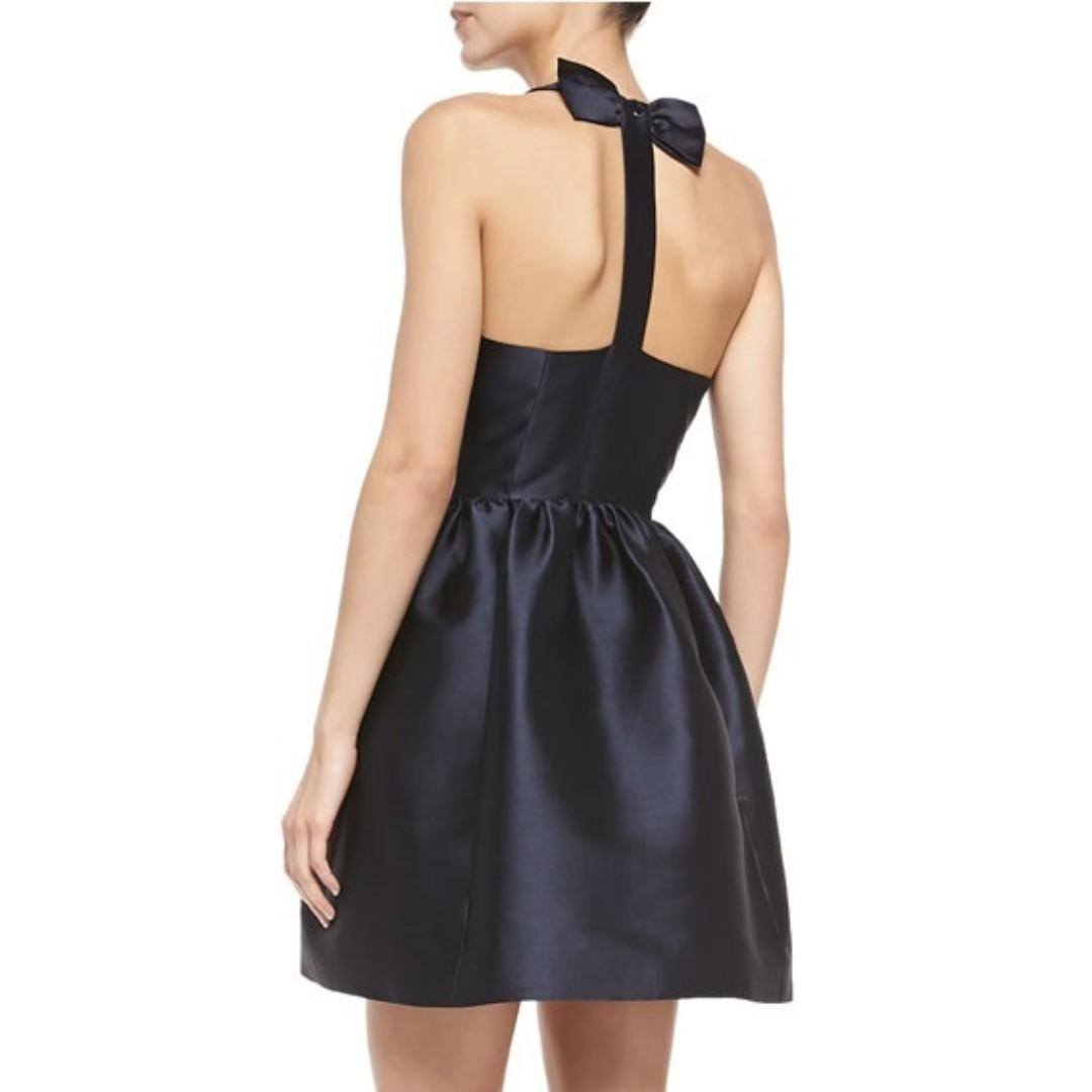 (SOLD!) Kate Spade New York Sateen Bow Back Fit And Flare Dress - US Size 4 NWOT