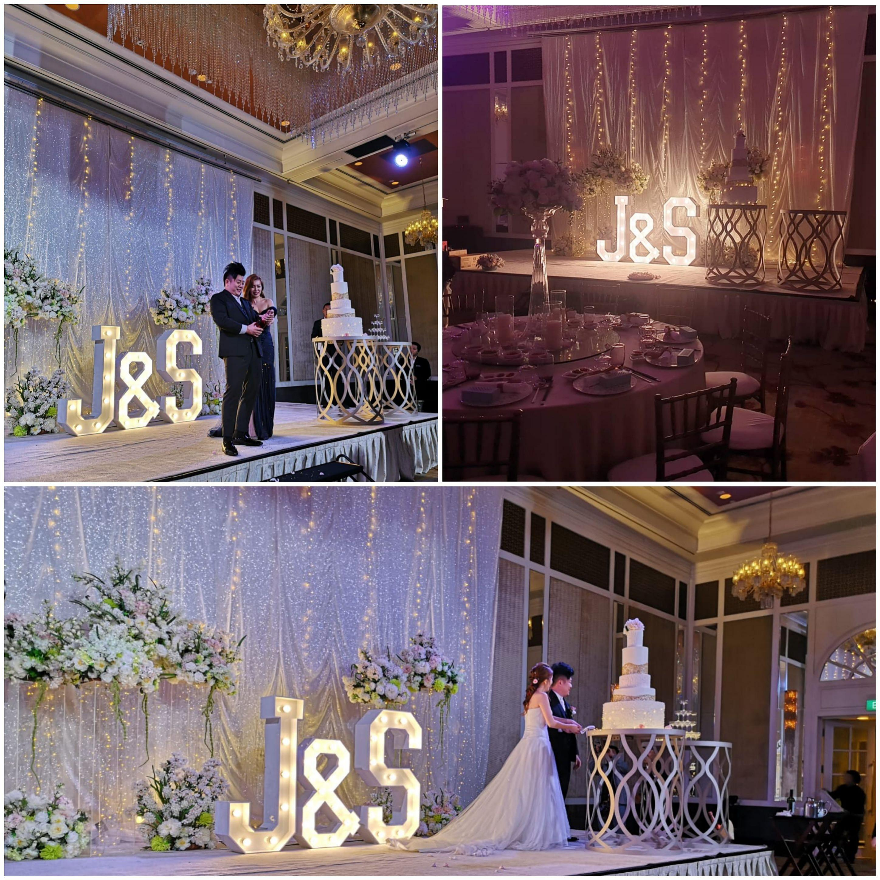 MARQUEE LIGHTS & LETTER TABLES for Events Wedding Decoration Birthday Dessert Table Corporate (RENT)