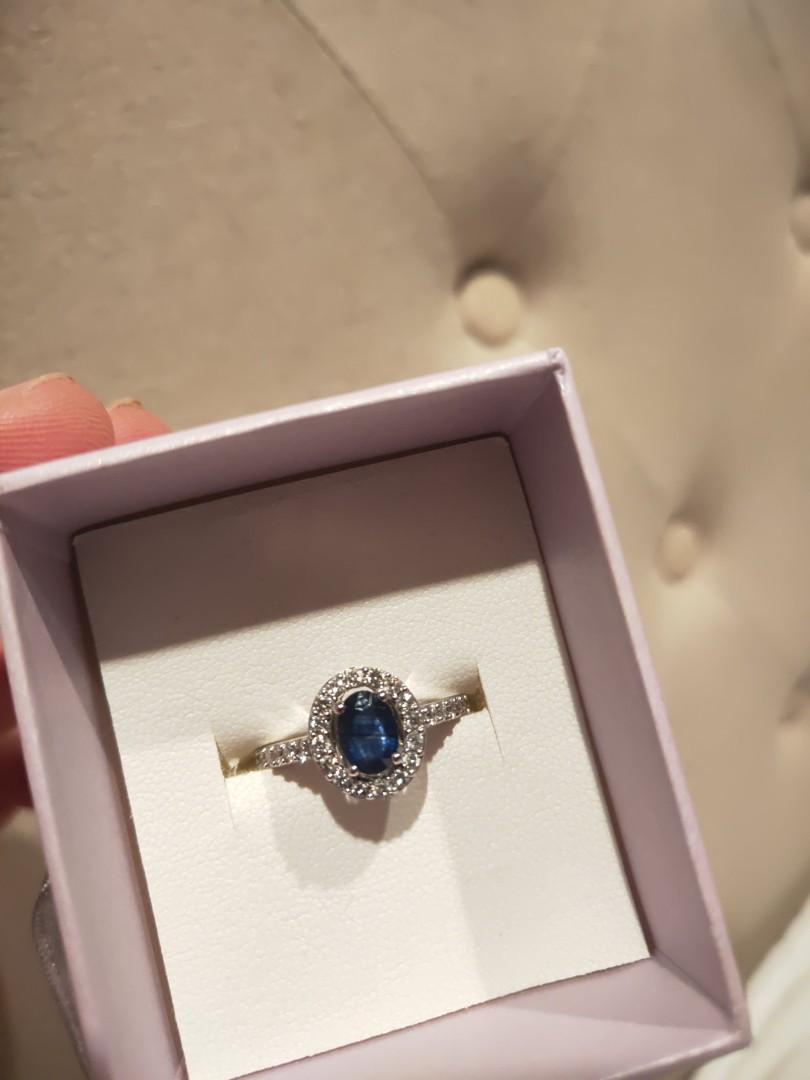 Michael Hill 10KT White Gold Sapphire & 0.50 carat (RRP:$975)