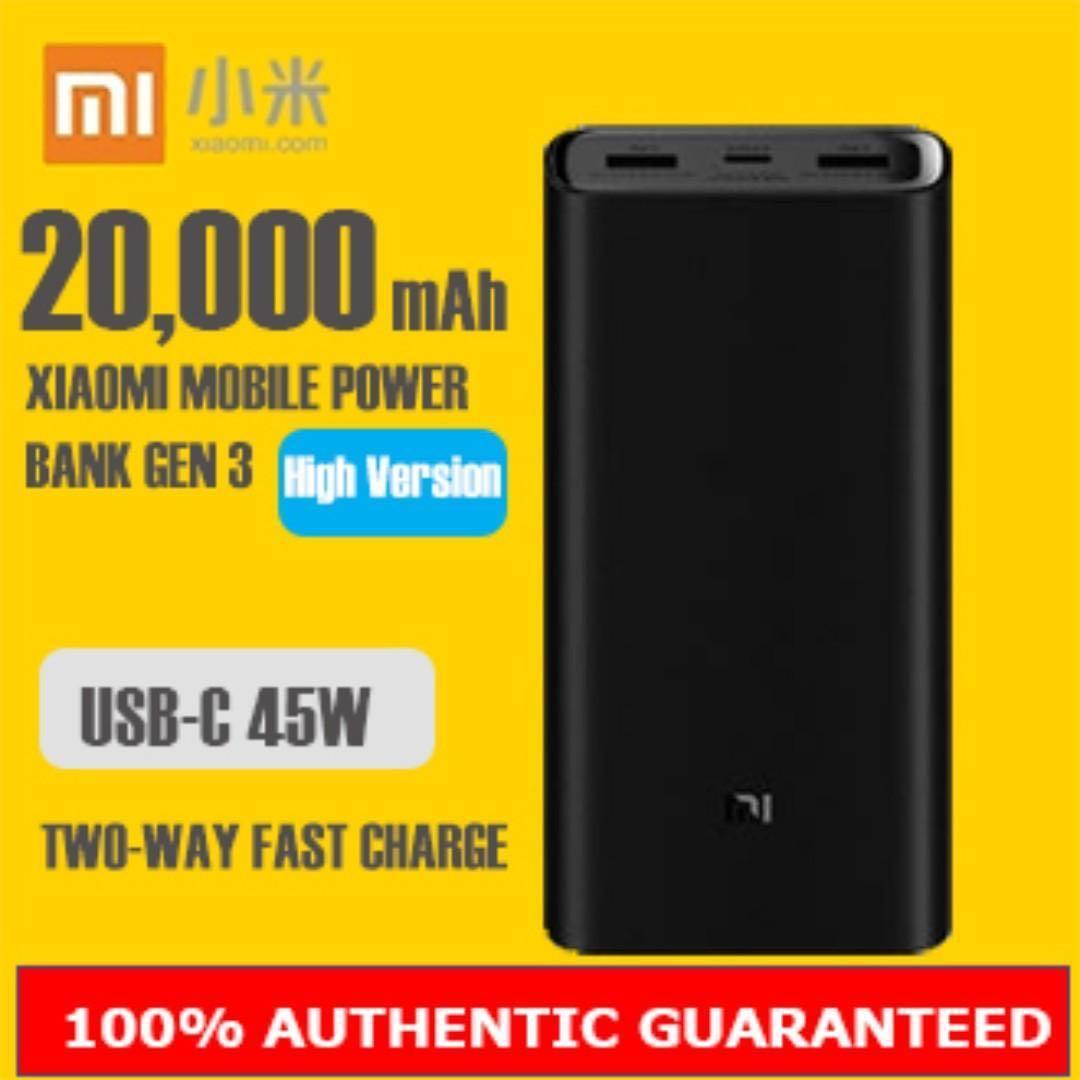 NEW Xiaomi 20000mah Powerbank Gen 3 Fast Charging