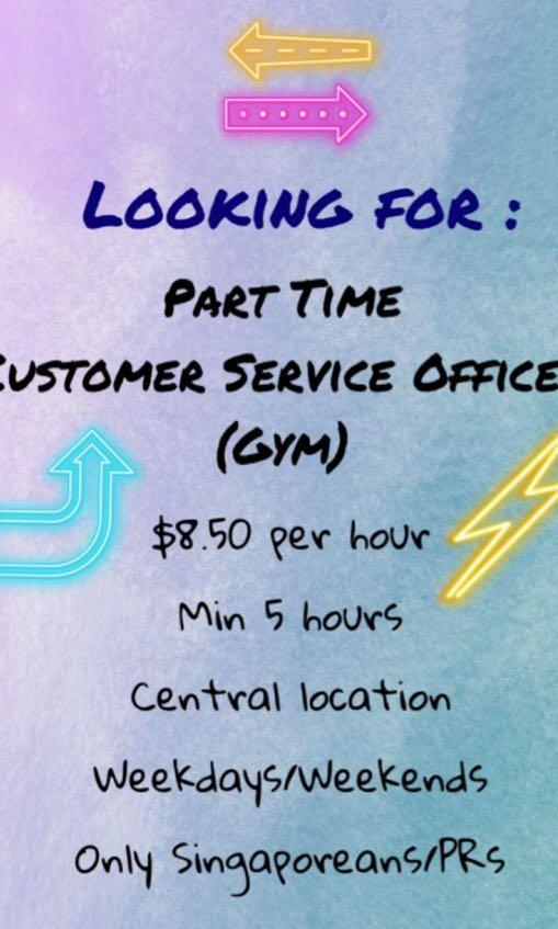 Part Time Customer Service Officer (Gym)