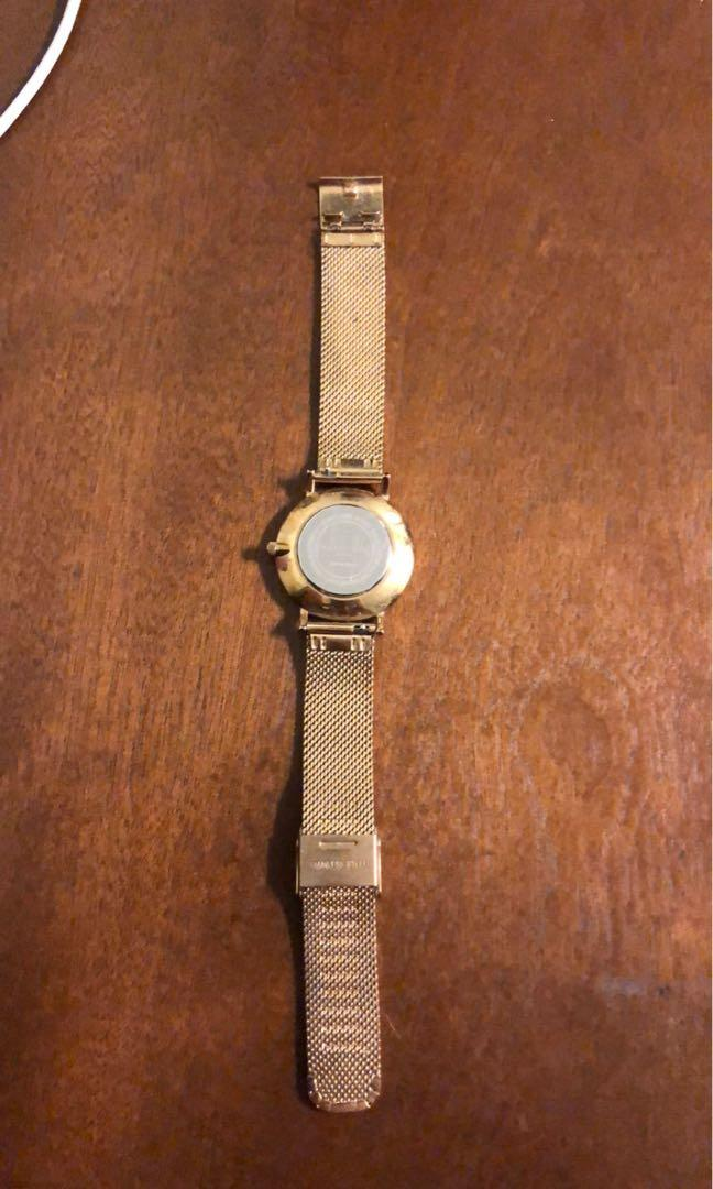ROSEFIELD GOLD WATCH . Price is negotiable , used but still in good condition.