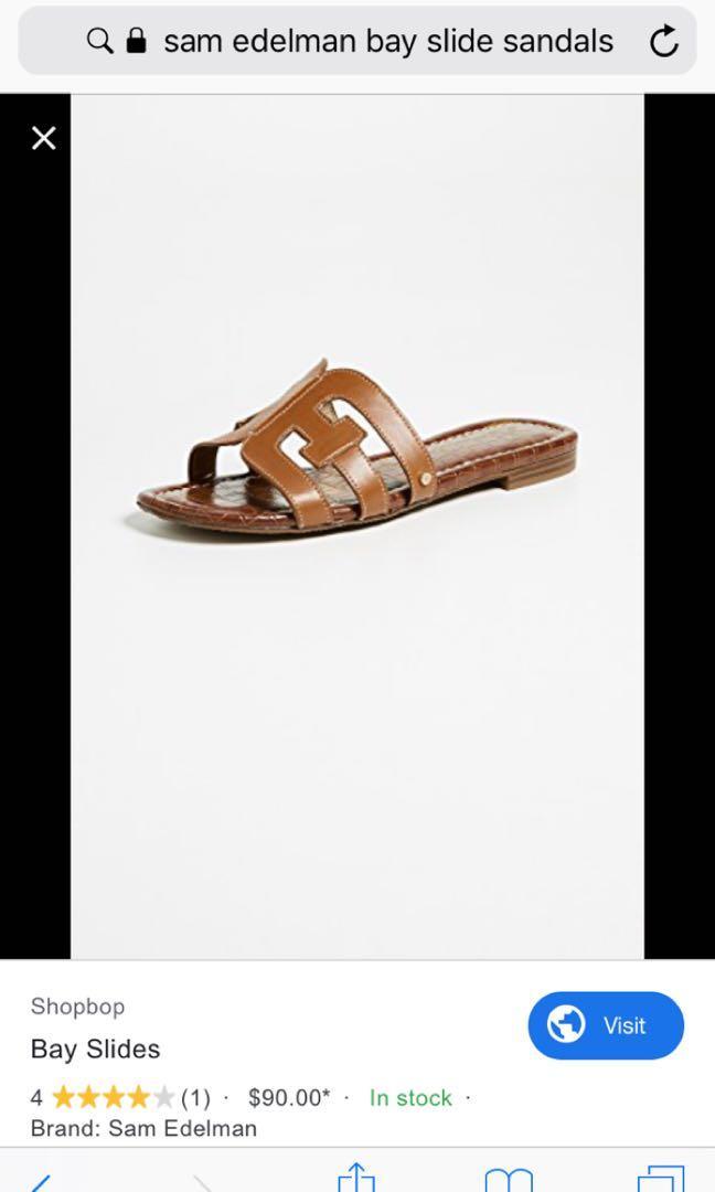 Sam Edelman leather upper bay slide flats sandal 7.5