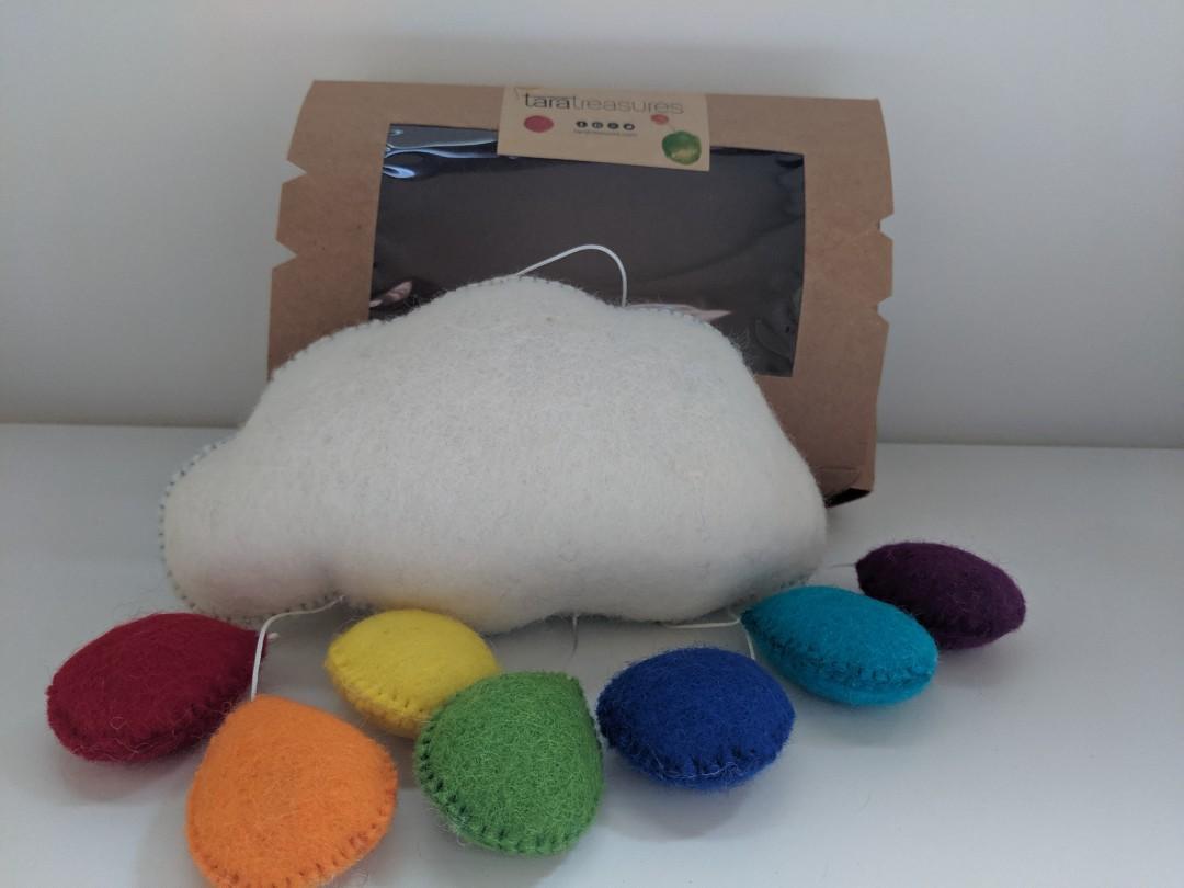 Tara Treasures Cloud Rainbow Mobile