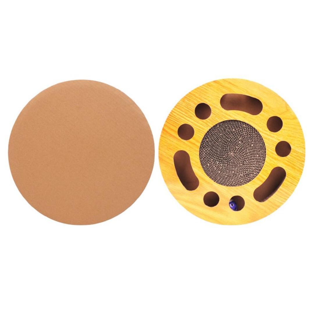 TPE099 Round Shape Corrugated Scratch Board