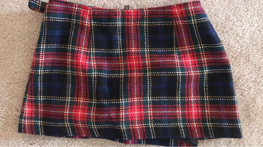 XS Red/Navy Kilt - Made and Purchased in Calabria, Italy