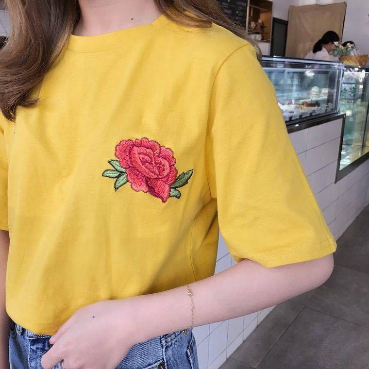 YOSH yellow rose shirt