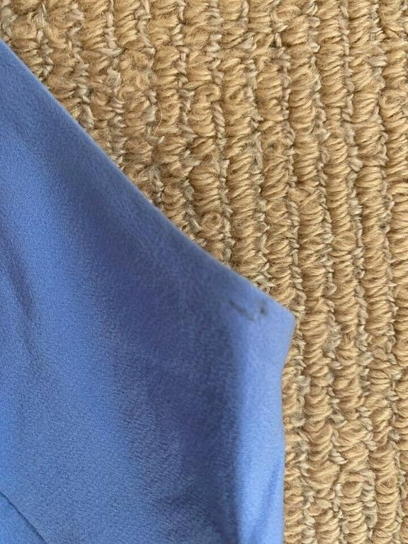 Zimmermann Blue Long Silk One Shoulder Dress Size 0