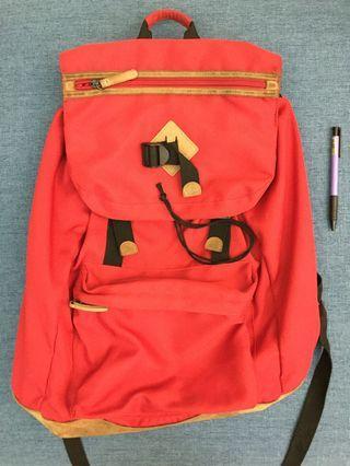 韓國SPAO 紅色後背包 大容量