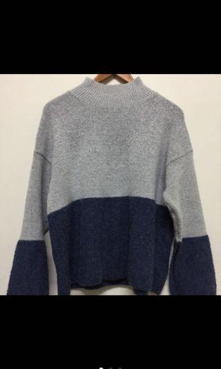 微高領 針織毛衣