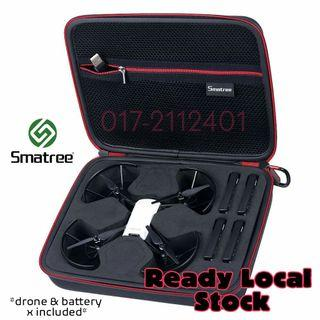 Portable Smatree Carry Case for DJI Tello Drone / 4 Tello Flight Batteries (*Drone & Batteries not Included)