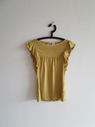 Yellow Ladies Blouse Top