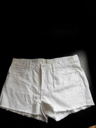 Net全新白色牛仔短褲