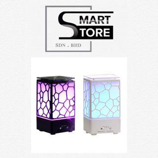 Smart Essential Aroma Oil Diffuser Water Cube Night Light