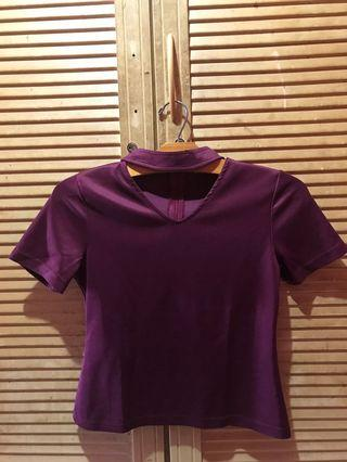 Choker Top Burgundy