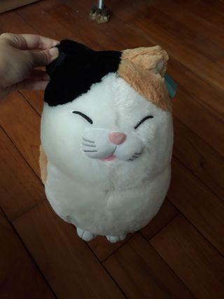 全新大隻貓貓玩偶三色貓咪招財貓玩偶布偶 含吊牌