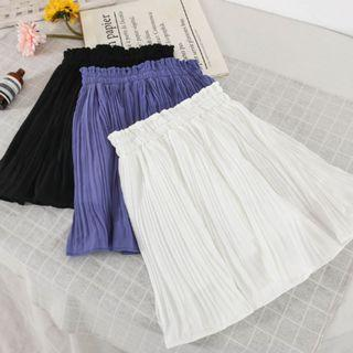 T2-326Pleated Skirt  (With inner safety shorts)  BLACK/WHITE/BLUE