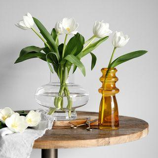Scandinavian Modern Glass Flower Vase Decor