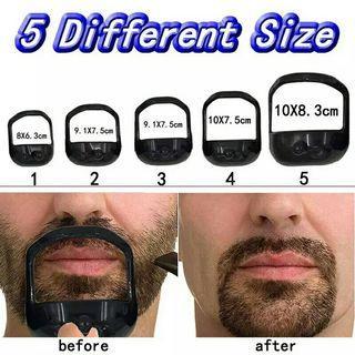 5Pcs/lot Beard Comb Molding template Hairbrush Symmetric Cut Salon Mustache Beard Styling Template for Beard Shaping Tool