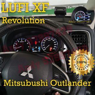 Mitsubushi Outlander Lufi XF Revolution OBD OBD2 Gauge Meter display #lufi #defi #magician #ultragauge #scangauge