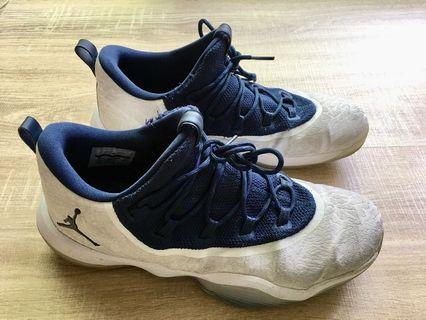 Jordan 籃球鞋 Super.fly 喬丹 AJ 白 深藍27cm