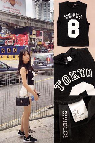 [ALL FOR RM15] H&M Tokyo 8 Black Halter Top